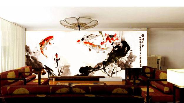 家居手绘电视墙效果图(一)