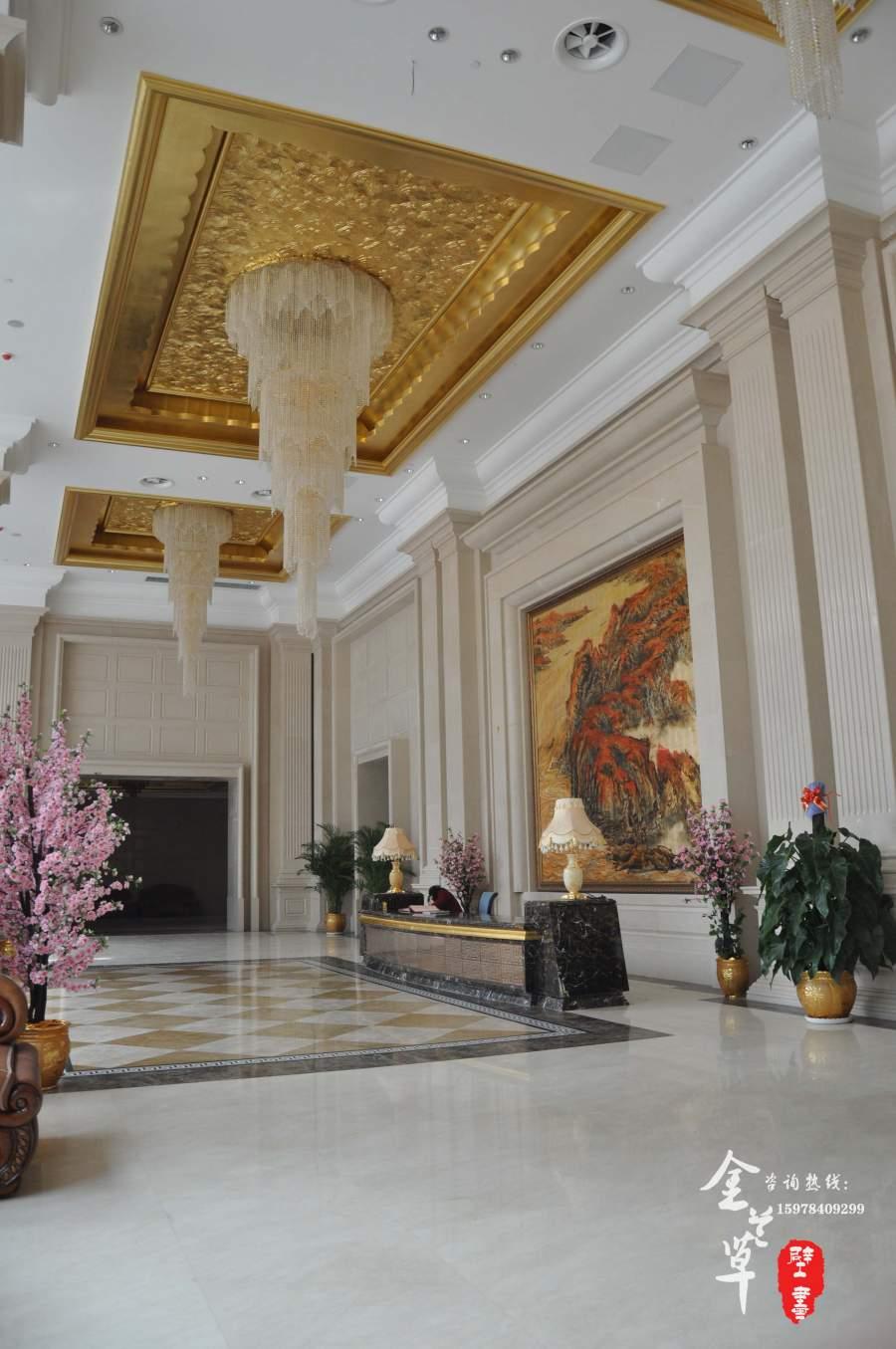 酒店大堂手绘壁画