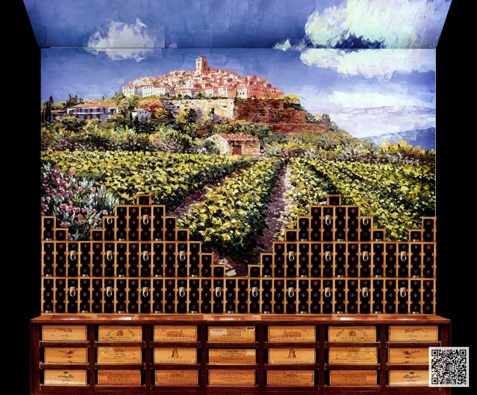 酒窖壁画&葡萄酒庄壁画